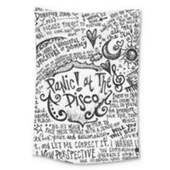 Panic! At The Disco Lyric Quotes Large Tapestry by Onesevenart
