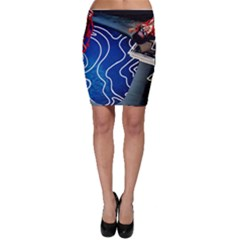 Panic! At The Disco Released Death Of A Bachelor Bodycon Skirt by Onesevenart