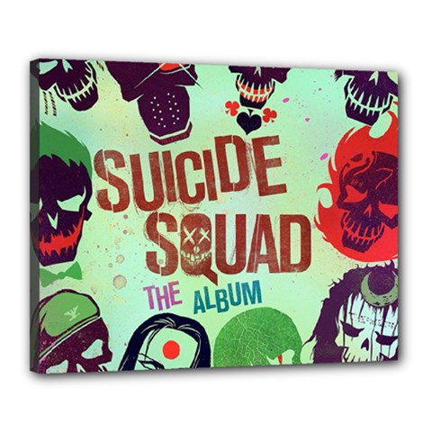 Panic! At The Disco Suicide Squad The Album Canvas 20  X 16  by Onesevenart