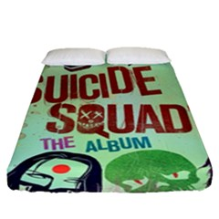 Panic! At The Disco Suicide Squad The Album Fitted Sheet (queen Size) by Onesevenart