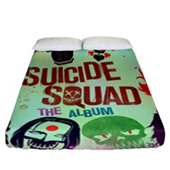 Panic! At The Disco Suicide Squad The Album Fitted Sheet (california King Size) by Onesevenart