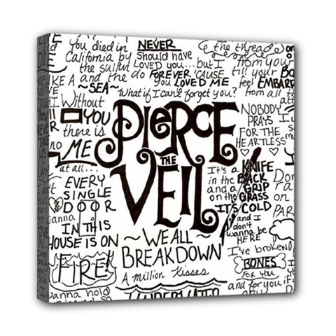 Pierce The Veil Music Band Group Fabric Art Cloth Poster Mini Canvas 8  X 8  by Onesevenart