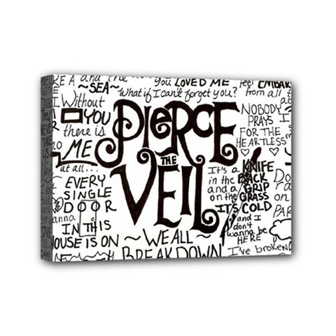 Pierce The Veil Music Band Group Fabric Art Cloth Poster Mini Canvas 7  X 5  by Onesevenart