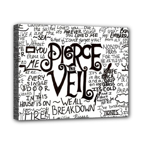 Pierce The Veil Music Band Group Fabric Art Cloth Poster Canvas 10  X 8  by Onesevenart