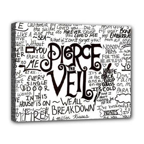 Pierce The Veil Music Band Group Fabric Art Cloth Poster Canvas 14  X 11  by Onesevenart