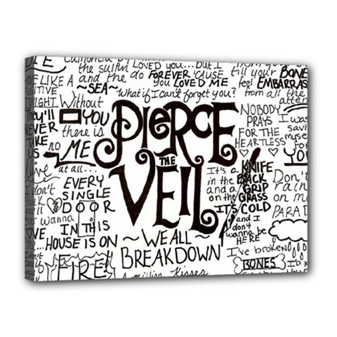 Pierce The Veil Music Band Group Fabric Art Cloth Poster Canvas 16  X 12  by Onesevenart