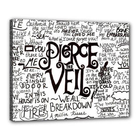 Pierce The Veil Music Band Group Fabric Art Cloth Poster Canvas 20  X 16  by Onesevenart