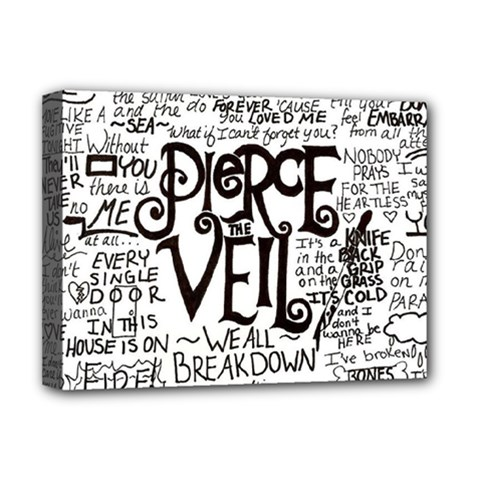 Pierce The Veil Music Band Group Fabric Art Cloth Poster Deluxe Canvas 16  X 12   by Onesevenart