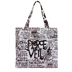 Pierce The Veil Music Band Group Fabric Art Cloth Poster Zipper Grocery Tote Bag by Onesevenart