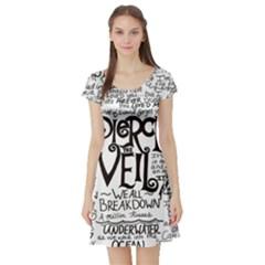 Pierce The Veil Music Band Group Fabric Art Cloth Poster Short Sleeve Skater Dress by Onesevenart