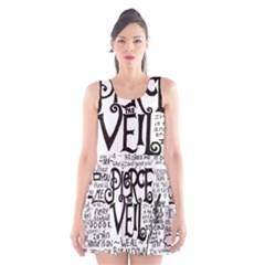 Pierce The Veil Music Band Group Fabric Art Cloth Poster Scoop Neck Skater Dress by Onesevenart