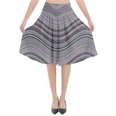 Abstraction Flared Midi Skirt by Valentinaart
