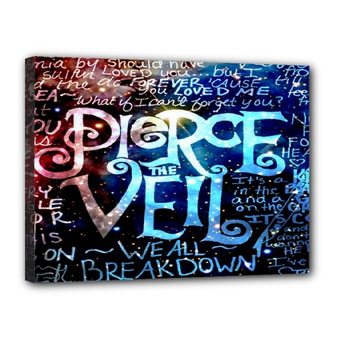Pierce The Veil Quote Galaxy Nebula Canvas 16  X 12  by Onesevenart