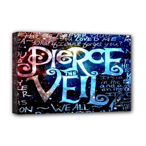 Pierce The Veil Quote Galaxy Nebula Deluxe Canvas 18  X 12   by Onesevenart