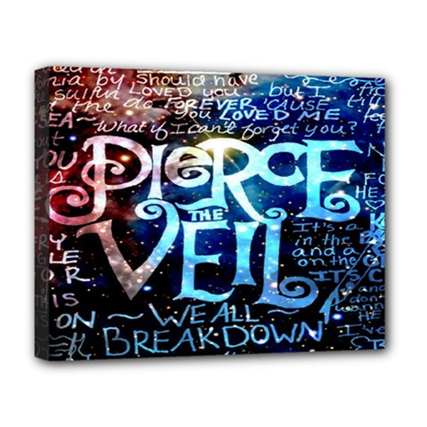 Pierce The Veil Quote Galaxy Nebula Deluxe Canvas 20  X 16   by Onesevenart