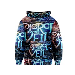 Pierce The Veil Quote Galaxy Nebula Kids  Pullover Hoodie by Onesevenart
