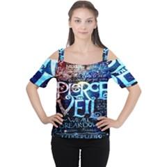 Pierce The Veil Quote Galaxy Nebula Women s Cutout Shoulder Tee by Onesevenart