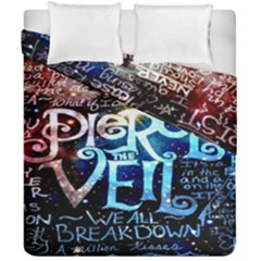 Pierce The Veil Quote Galaxy Nebula Duvet Cover Double Side (california King Size) by Onesevenart