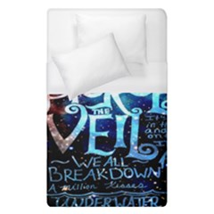 Pierce The Veil Quote Galaxy Nebula Duvet Cover (single Size) by Onesevenart