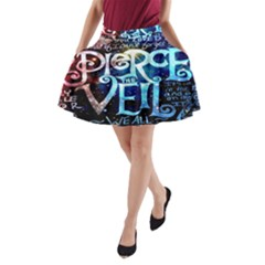 Pierce The Veil Quote Galaxy Nebula A Line Pocket Skirt by Onesevenart