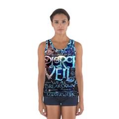 Pierce The Veil Quote Galaxy Nebula Women s Sport Tank Top  by Onesevenart