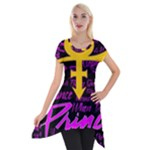 Prince Poster Short Sleeve Side Drop Tunic