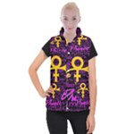 Prince Poster Women s Button Up Puffer Vest