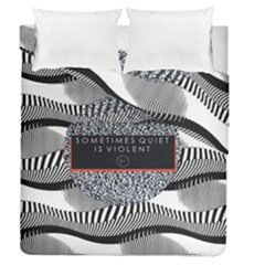 Sometimes Quiet Is Violent Twenty One Pilots The Meaning Of Blurryface Album Duvet Cover Double Side (queen Size) by Onesevenart