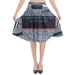 Sometimes Quiet Is Violent Twenty One Pilots The Meaning Of Blurryface Album Flared Midi Skirt by Onesevenart
