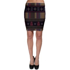 Tardis Doctor Who Ugly Holiday Bodycon Skirt by Onesevenart