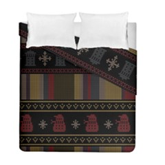 Tardis Doctor Who Ugly Holiday Duvet Cover Double Side (full/ Double Size) by Onesevenart