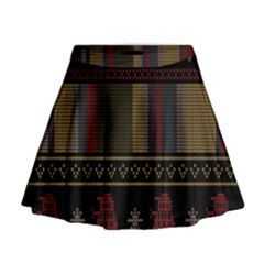 Tardis Doctor Who Ugly Holiday Mini Flare Skirt by Onesevenart
