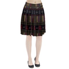 Tardis Doctor Who Ugly Holiday Pleated Skirt by Onesevenart