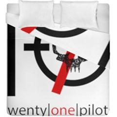 Twenty One Pilots Skull Duvet Cover Double Side (king Size) by Onesevenart