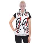 Twenty One Pilots Skull Women s Button Up Puffer Vest