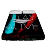 Twenty One Pilots Stay Alive Song Lyrics Quotes Fitted Sheet (Queen Size)