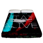 Twenty One Pilots Stay Alive Song Lyrics Quotes Fitted Sheet (King Size)