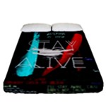 Twenty One Pilots Stay Alive Song Lyrics Quotes Fitted Sheet (California King Size)