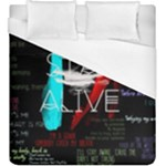 Twenty One Pilots Stay Alive Song Lyrics Quotes Duvet Cover (King Size)