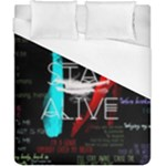 Twenty One Pilots Stay Alive Song Lyrics Quotes Duvet Cover (California King Size)
