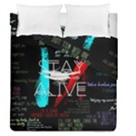 Twenty One Pilots Stay Alive Song Lyrics Quotes Duvet Cover Double Side (Queen Size)
