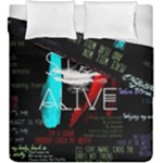 Twenty One Pilots Stay Alive Song Lyrics Quotes Duvet Cover Double Side (King Size)