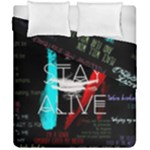 Twenty One Pilots Stay Alive Song Lyrics Quotes Duvet Cover Double Side (California King Size)