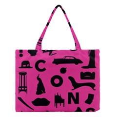 Car Plan Pinkcover Outside Medium Tote Bag by Mariart