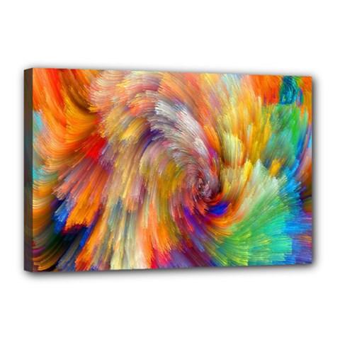 Rainbow Color Splash Canvas 18  X 12  by Mariart