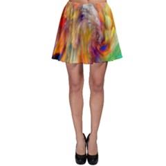 Rainbow Color Splash Skater Skirt by Mariart