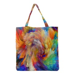 Rainbow Color Splash Grocery Tote Bag by Mariart