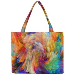 Rainbow Color Splash Mini Tote Bag by Mariart