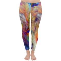 Rainbow Color Splash Classic Winter Leggings by Mariart