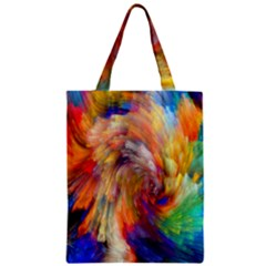 Rainbow Color Splash Zipper Classic Tote Bag by Mariart